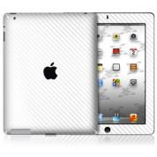 xGear ExoSkin Carbon - комплект карбоново фолио за iPad 4/3 (бял)