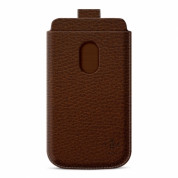 Belkin Pocket - кожен калъф за Samsung Galaxy S3 i9300, S3 Neo и HTC Desire 500 (кафяв)