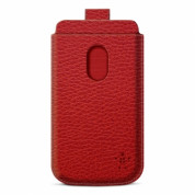 Belkin Pocket - кожен калъф за Samsung Galaxy S3 i9300, S3 Neo и HTC Desire 500 (червен)