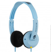 Skullcandy Uprock Light Blue Headphones for iPhone and mobile devices