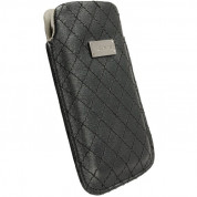 Krusell Avenyn Mobile Pouch 3XL - кожен калъф за Samsung Galaxy S3, S3 Neo, S4, HTC One, Moto G, Xperia Z1, Z1 Compact и др. (черен)