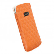 Krusell Avenyn Mobile Pouch 3XL - кожен калъф за Samsung Galaxy S3, S3 Neo, S4, HTC One, Moto G, Xperia Z1, Z1 Compact и др. (оранжев)
