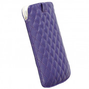 Krusell Avenyn Mobile Pouch 3XL - leather case for Samsung Galaxy S3, S3 Neo, Nexus, HTC One X, One S and mobile phones (purple) 1