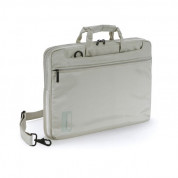 Tucano Work Out Slim Case - практична чанта за MacBook Pro Retina и преносими компютри до 15.4 инча (кремав)